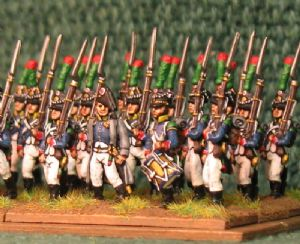 15mm, Napoleonic French Young Guard Voltigeurs (Advancing) 1809-1813 AB 24 Figures